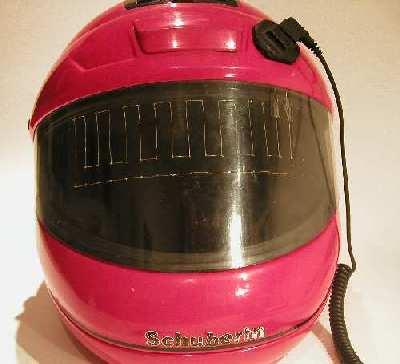 Helm mit selbstgebautem Heizvisier