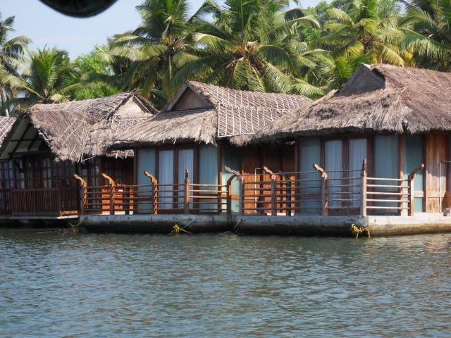 Hausboote in den Backwaters